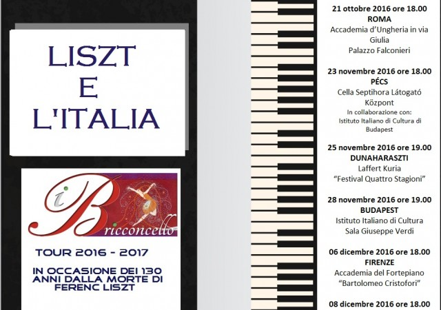 Liszt e l'Italia 2016 – 2017
